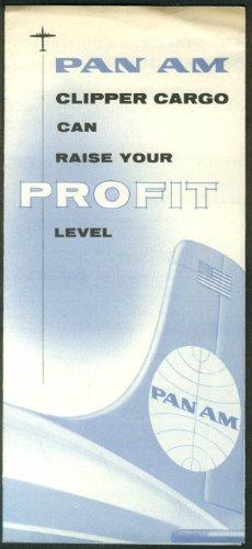 (Pan American World Airways Pan Am Clipper Cargo airline folder)