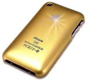"""""""Clásico"""" Dorado, Cubierta de plástico duro & """"Desire"""" Azul Marino, Funda de tacto suave - para iPhone 3G/3Gs. Paquete único de Cubierta / Estuche / Carcasa / Funda para iPhone 3G/3Gs & Auténtico estuche de tacto suave para iPhone 3G/3Gs."""