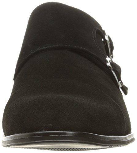 Stacy Adams Mens Slocomb-Cap Toe Double Monk Strap Slip-On Loafer Black Suede tKcwilLkYu
