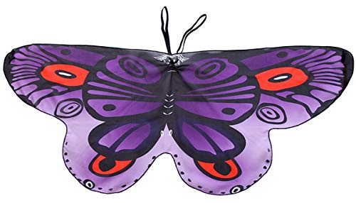 CISMARK Butterfly Wings Costume with Shoulder Loops and Finger Loops FePurple