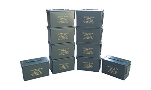 Ammo Can Man, LLC New Stenciled 50 Cal ammo can (10 Pack) by Ammo Can Man