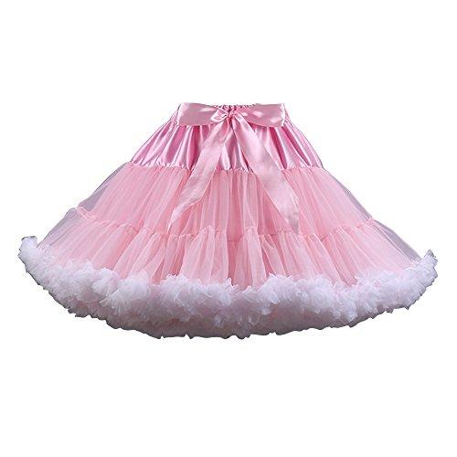soie OCHENTA Danse de mousseline Blanc tutu jupe en de Rose Femme Jupe Mini femmes Jupe ballet Tulle wXXUqg1