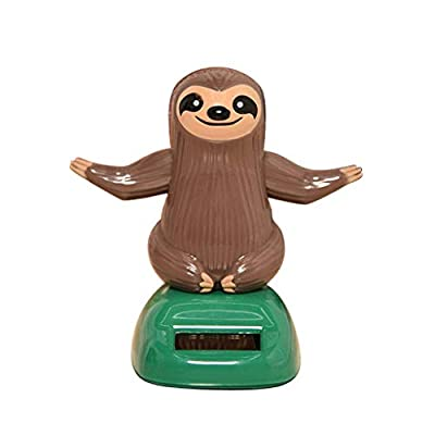COMFORT INNOVATION Solar Powered Toys Dancing Sloth Model Home Car Ornament Kid Toy Gift: Garden & Outdoor
