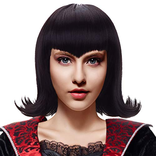 Black Curly Mavis Cosplay Wig Women Girls Synthetic Vampire Anime Hair Wigs for Party Costume Halloween -