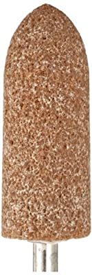 "Norton Pacesetter Vitrified Bond Abrasive Mounted Point, Aluminum Oxide, A1 Shape, 1/4"" Spindle Diameter, 3/4"" Diameter x 2-1/2"" Thickness, Grit 60 (Pack of 5)"