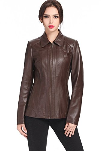 Ladies Lambskin Leather Coat Jacket (SID Women's Lambskin Leather Trench Coat Jacket)
