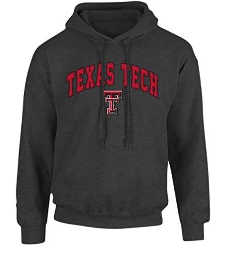 (Elite Fan Shop Texas Tech Red Raiders Hooded Sweatshirt Arch Charcoal - XXL)