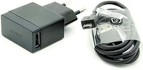 Original Negro 1500 mAh (1.5 Amp)  Sony Micro USB 2 Pines Cargador de Red Empaquetado a Granel Adecuado para Sony Xperia Z3+, Xperia Z3+ Dual, Xperia ...