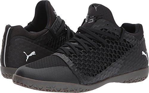 PUMA Men's 365 Netfit CT Soccer Shoe, Black Black White, 7.5 M US