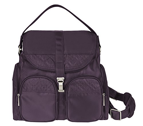 Travelon Anti-Theft Signature Convertible Backpack, Eggplant, One Size