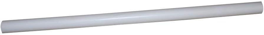 Tubo transparente redondo irrompible PVC 2M 37x40 mm Tubo r/ígido de pl/ástico blanco