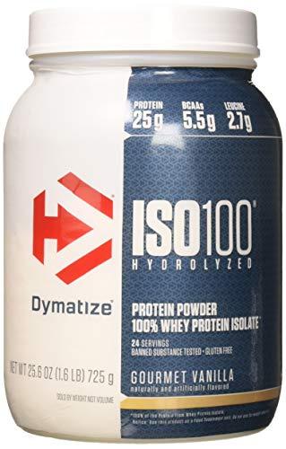 Dymatize Elite Gourmet Protein - Dymatize ISO 100 Whey Protein Powder Isolate, Gourmet Vanilla, 1.6 Pound