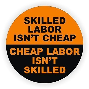 StickerDad Skilled Labor Isn't Hard Hat Helmet Sticker Vinyl Decal Full Color Printed - (Size: 2