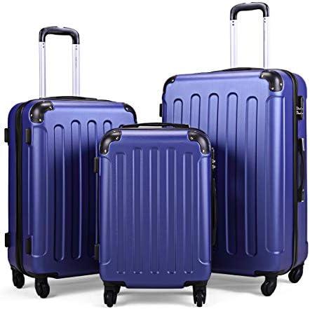 "Sandinrayli Luggage Set, Lightweight & Durable Travel Suitcase with Spinner Wheels, 20"" 24"" 28"" Hardside Spinner Set"