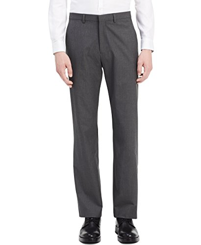 Calvin Klein Men's Infinite Slim Fit Trouser Suit Pant 4-Way Stretch, Cinder Block, 28W 30L by Calvin Klein