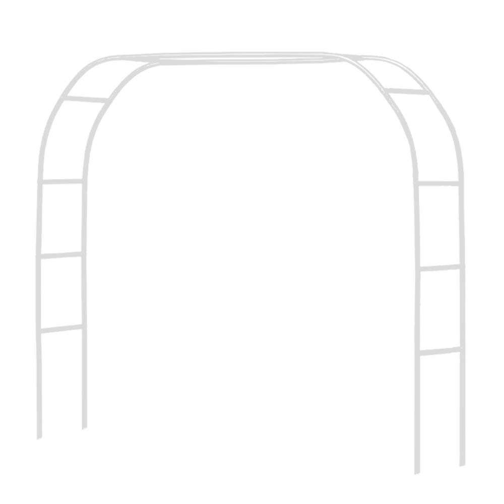 "Metal Pergola Arbor,7'6""Wide x 6'5""High / 4'6""Wide x 7'10""High,Assemble Freely 2 Sizes,Wide Wedding Garden Arbor Bridal Party Decoration White Arbor"