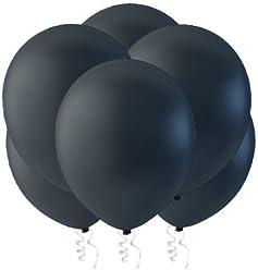 "Creative Balloons 12"" Latex Balloons - Pack of 144 Piece - Decorator Midnight Black"