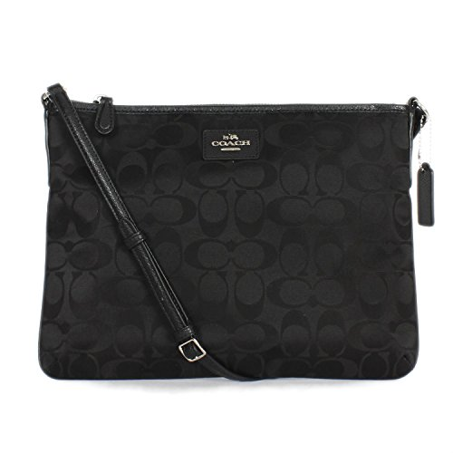 Bag Nylon Coach Black Ipad Signature Crossbody 35454 6pwOqO4xv