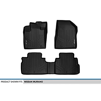 MAXLINER Floor Mats 2 Row Liner Set Black for 2015-2020 Nissan Murano: Automotive