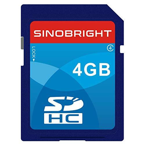 SINOBRIGHT SD Card 4GB SDHC Class 4 Flash Memory Card 4 GB Camera - 4 Class Card Flash