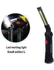 leegoal Luz de Trabajo de COB Magnética Recargable, Lámpara de Inspección LED Inalámbrica Plegable con Gancho 5 Modos USB Portátil Linterna Antorcha para Taller Taller Reparación de Luces de Mano