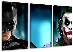 Batman & Joker - cuadro sobre lienzo - 120 x 80 cm - 3 piezas