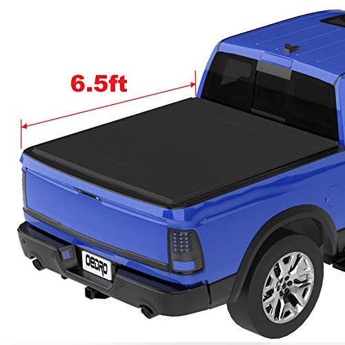 oEdRo Roll Up Truck Bed Tonneau Cover Compatible with 2002-2019 Dodge Ram 1500 (2019 Only Fits Classic); 2003-2018 Dodge Ram 2500 3500 | Fleetside 6.5 Feet Bed ()