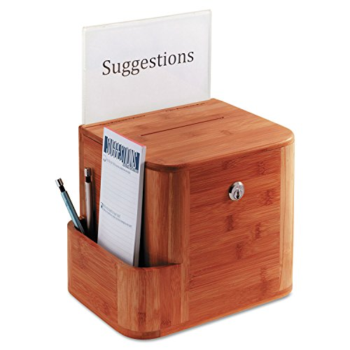 - Safco Products 4237CY Bamboo Suggestion Box, Cherry