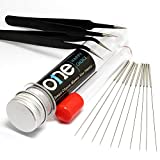 3D Printer Nozzle Cleaning Kit - 0.4mm Needles and Tweezers Toolkit - Stainless Steel Nozzle Cleaning Tool Kit - Set of 12