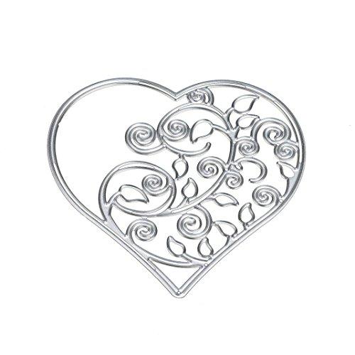 Iuhan Fashion Flower Heart Metal Cutting Dies Stencils DIY Scrapbooking Album Paper Card Craft (B)
