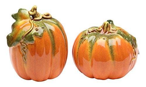 Cg 10364 Orange Pumpkin Shape Design Salt & Pepper Shaker Collectible -