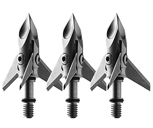 Ramcat Single Bevel Broadhead (3 Pack), Silver, 100 Grain