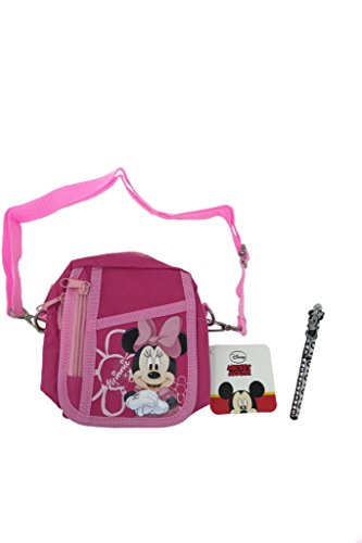 Disney Minnie Mouse Pink Shoulder Bag Purse & Silver Pen