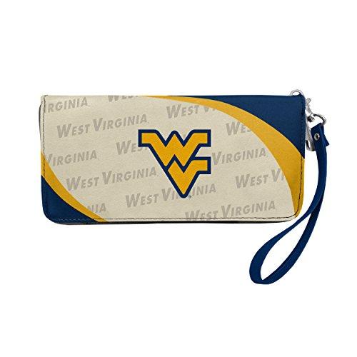 NCAA West Virginia Mountaineers Curve Zip Organizer Wallet