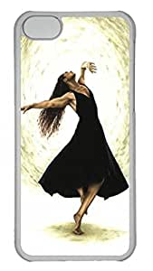 Tranparent PC Case Cover For iPhone 5C Durable Hard Plastic Cellphone Back Shell Skin For iPhone 5C with Free Spirit Poster