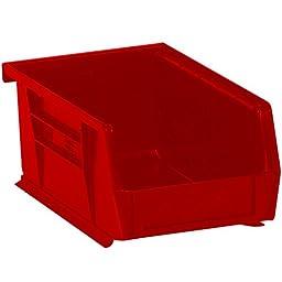 Aviditi BINP0965R Plastic Stack and Hang Bin Boxes, 9 1/4\