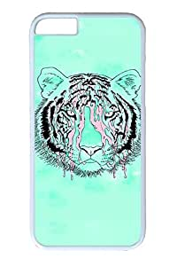 iPhone 6 Case, Personalized Unique Design Covers for iPhone 6 PC White Case - Fluorescence Green Tiger