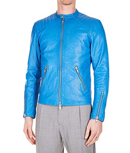 Bully Blu Uomo Outerwear 5268nappalav82 Giacca Pelle rXgnFqrw