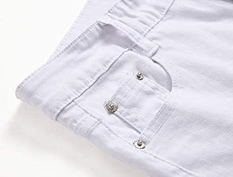 Kihatwin Big Boy/'s Casual Skinny Ripped Jeans Slim Fit Distressed Zipper Pants