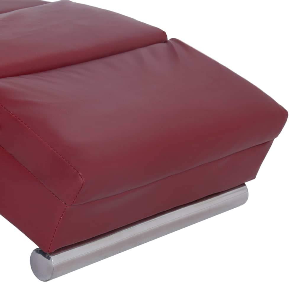 Poltrona Sdraio Sdraio Massaggiante Rosso Vino in Similpelle Poltrone per Soggiorno Festnight