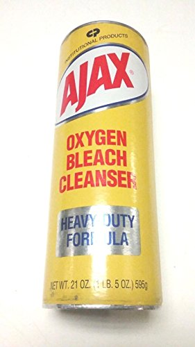 NEW VINTAGE- AJAX OXYGEN BLEACH CLEANSER - HEAVY DUTY FORMULA - 21 OZ. - USA MADE - Cleanser Bleach Oxygen Ajax