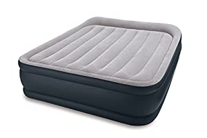 Intex Deluxe Pillow Rest Raised Air Bed Queen Size