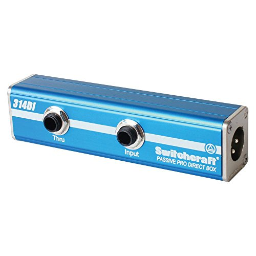 314DI-AudioStix 1/4'' to XLR Adapter DI Box with Ground Lift and -20 dB Pad by SWITCHCRAFT/CONXALL