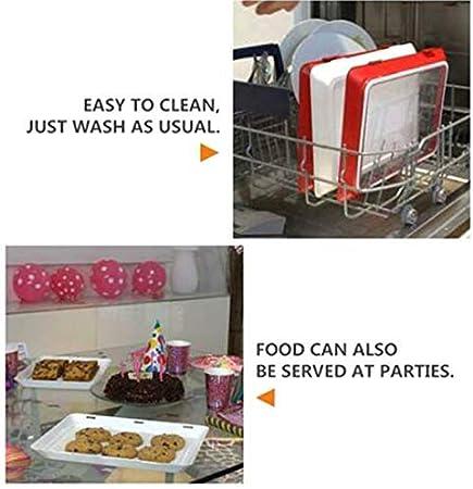 Plateau de conservation alimentaire sain et cr/éatif pour ustensiles de cuisine 4PCS