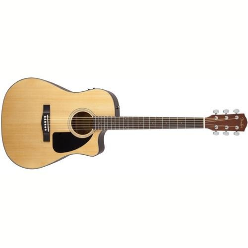 Fender CD-60CE Dreadnought Cutaway Acoustic-Electric Guitar - Natural by Fender
