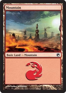 - Magic: the Gathering - Mountain (#244) - Scars of Mirrodin - Foil