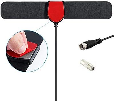Vvciic Digital VHF-H/UHF TV Antena Activa Integrada 20dB RF ...
