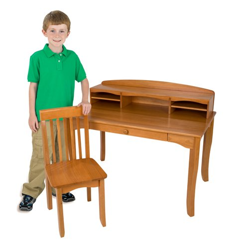 Avalon Desk with Hutch - Avalon Table Honey Furniture Kidkraft