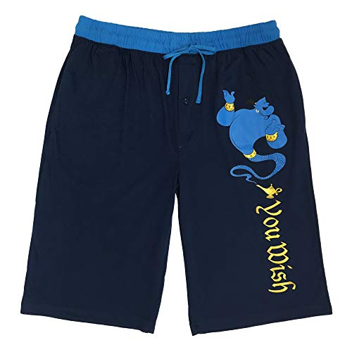 (Disney Men's Aladdin Genie Lounge Shorts (X-Large) Navy Blue)