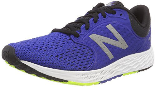 New Balance Men's Zante V4 Fresh Foam Running Shoe, Team Royal/Black/hi lite, 9.5 2E US